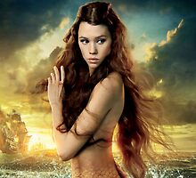 Astrid Berges-Frisbey, Mermaid by fine-art-prints