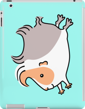 Leaping Guinea-pig ... Apricot Gray and White by Zoe Lathey