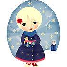 Rosy Snowflakes by Jenny Lloyd