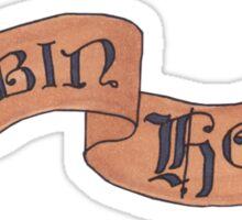 robin hood banner Sticker