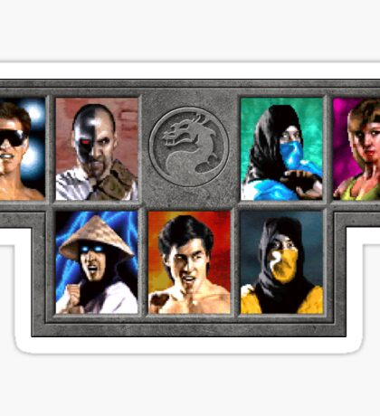 Mortal Kombat Character Select Sticker
