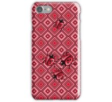 ladybugs pattern iPhone Case/Skin