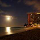 Moonset over Honolulu by Graceful  Imaging