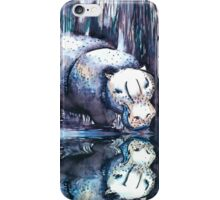 Hippo Reflection iPhone Case/Skin