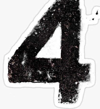 Up in Fl4mes - Black Sticker