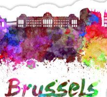 Brussels skyline in watercolor Sticker