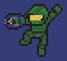 8-Bit Master Chief by HaloPrecursor