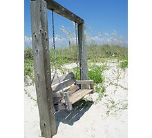 Summer Swing, Tybee Island Photographic Print