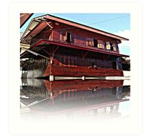 Pictures house like a ship found in the application of architecture admirable Art Print