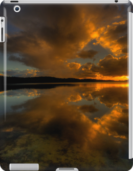 Golden Portrait - Narrabeen Lakes, Sydney  (IPAD Case- The HDR Experience by Philip Johnson