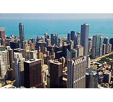 Aerial view of Chicago IL Photographic Print