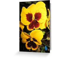 Yellow Wings Greeting Card