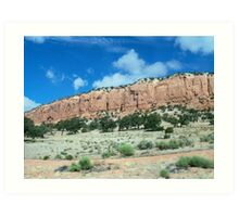 Red-cliffed mesa, New Mexico Art Print