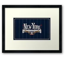 New York Baseball Framed Print
