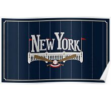 New York Baseball Poster