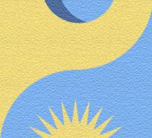Yin Yang Sun And Moon Sticker