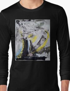 Drawing On Stone - Original painting on Canvas Mixed media by famous Russian musician  Long Sleeve T-Shirt