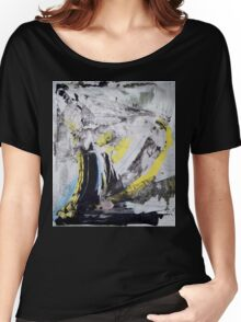 Drawing On Stone - Original painting on Canvas Mixed media by famous Russian musician  Women's Relaxed Fit T-Shirt