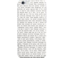 little things lyrics iPhone Case/Skin