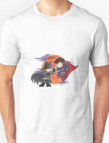 Cutie Superman and Batman T-Shirt