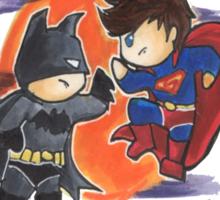 Cutie Superman and Batman Sticker