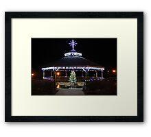 Christmas Gazebo Framed Print