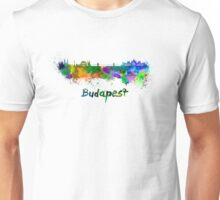 Budapest skyline in watercolor Unisex T-Shirt