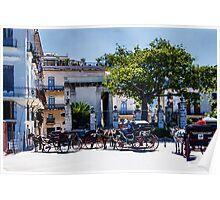 Plaza de Armas in Habana Vieja Poster