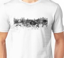 Budapest skyline in black watercolor Unisex T-Shirt