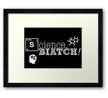 Science, biatch! BioEng White Framed Print