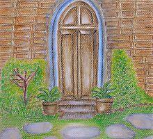 old doorway by thuraya o