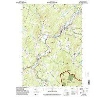 USGS TOPO Map New Hampshire NH Lisbon 329626 1995 24000 Photographic Print