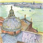 VENICE. View to Grand Canal from Basilica Di San Giorgio Maggiore.  by terezadelpilar~ art & architecture