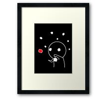 Shadow Guy and the Fireflies Framed Print