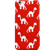 Dinosaurs Red iPhone Case/Skin
