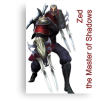 Zed - The Master Of Shadows Metal Print