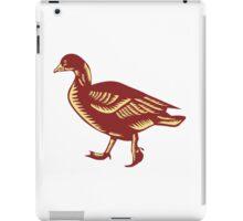 Duck Walking Side Woodcut iPad Case/Skin