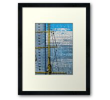Buenos Aires - Sails and the sky's reflections Framed Print