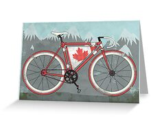 Love Bike, Love Canada Greeting Card