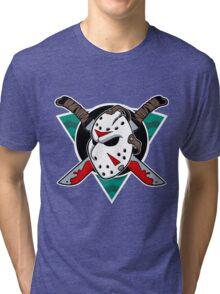Crystal Lake Ice Hockey Tri-blend T-Shirt