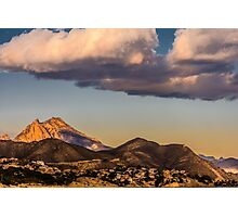Evening clouds over Puig Campana Photographic Print