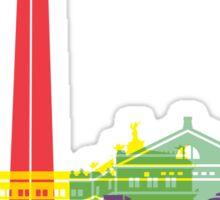 Buenos Aires skyline pop Sticker