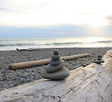 Stacked Stones : Ruby Beach by Gstudio