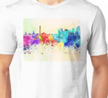 Buenos Aires skyline in watercolor background Unisex T-Shirt