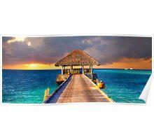 Maldives Sunset  Poster