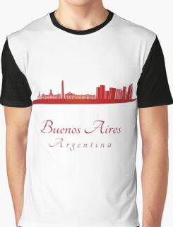 Buenos Aires skyline in red Graphic T-Shirt