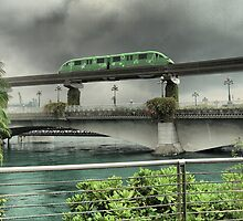 The Monorail in Green by Larry Lingard-Davis