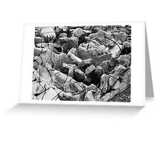 Crumbled Foundation Greeting Card