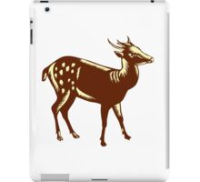 Philippine Spotted Deer Woodcut iPad Case/Skin