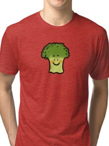 Cute veggie broccoli cartoon Tri-blend T-Shirt